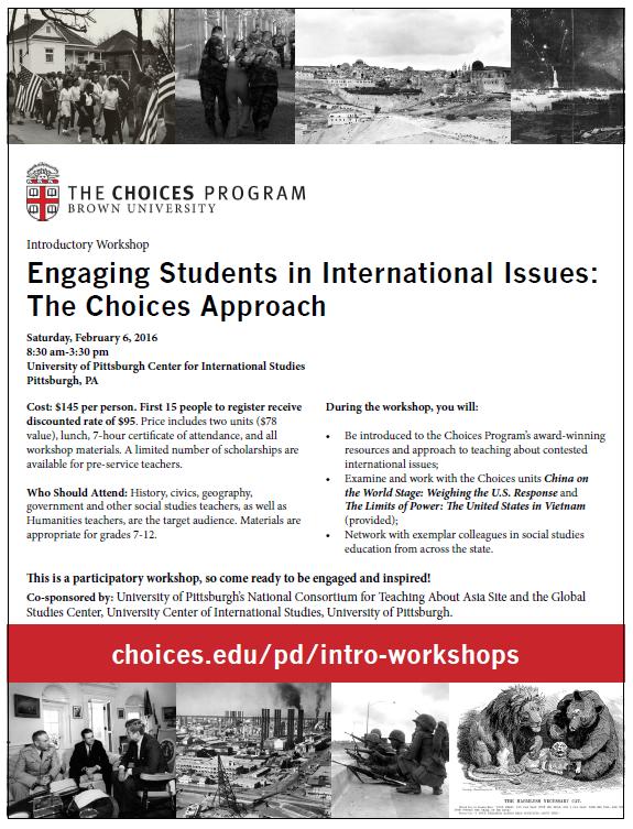Choices Program Workshop Flyer